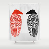 raven Shower Curtains featuring Raven by Alexandra Boman