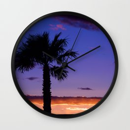 Palm Sunset - V Wall Clock