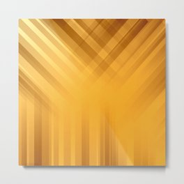 Golden Celetial Rays Metal Print