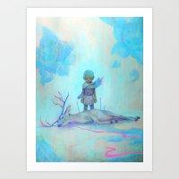 robin hood Art Prints featuring Robin Hood by ZachNien
