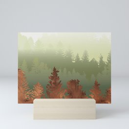 Treescape Green Mini Art Print