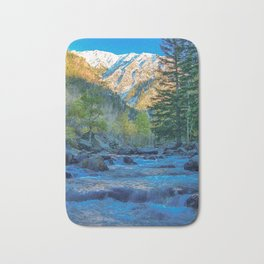 River Bed Sunrise // Long Exposure Landscape Photograph in the Colorado Rocky Mountains Bath Mat
