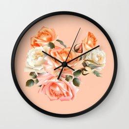 Modern Victorian Roses Wall Clock