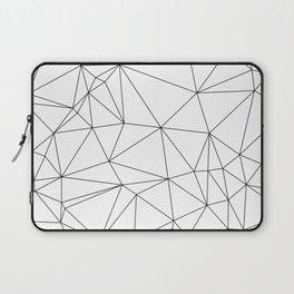 Black and White Geometric Minimalist Pattern Laptop Sleeve