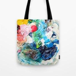 Rainbow Earth Paint Moon Love Tote Bag