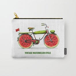 ORGANIC INVENTIONS SERIES: Vintage Watermelon Bicycle Carry-All Pouch