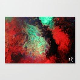 "Original Abstract Painting ""Titan"" Mixed Media Close Up Photograph Canvas Print"