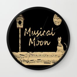 Musical Moon Wall Clock