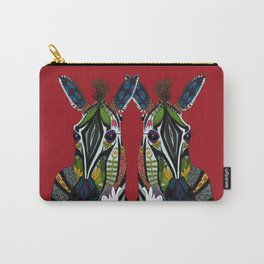 zebra love red Carry-All Pouch