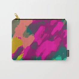 pink green and blue painting abstract background Carry-All Pouch