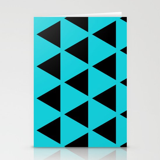 Sleyer Black on Blue Pattern Stationery Cards