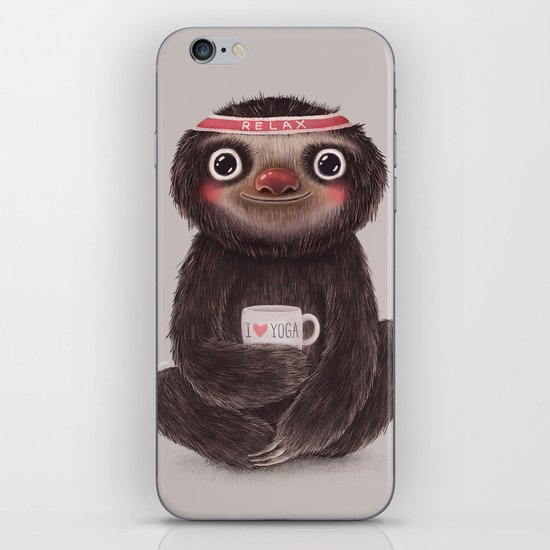 Sloth I♥yoga iPhone & iPod Skin