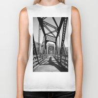 bridge Biker Tanks featuring Bridge by Danielle Podeszek