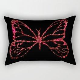 Butterfly Red Rectangular Pillow