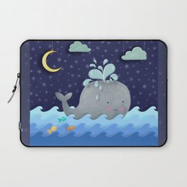 One Wonderful Whale With Fabulous Fishy Friends Laptop Sleeve