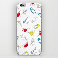tits iPhone & iPod Skins featuring Primary Tits by The Bird Draws