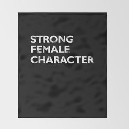 Strong Female Character Throw Blanket