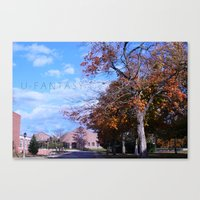 college Canvas Prints featuring College by Vickyyyy