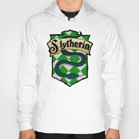 slytherin Hoodies featuring Slytherin Crest by AriesNamarie