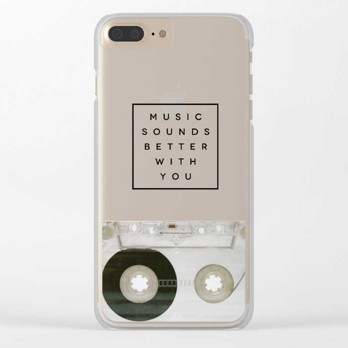Music Sounds Better With You Clear iPhone Case