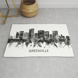 Greenville South Carolina Skyline BW Rug