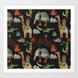 Cozy Zoo Art Print