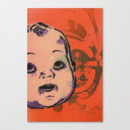Creepy Baby Doll Head Canvas Print