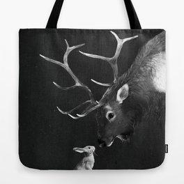 Elk and Rabbit Tote Bag