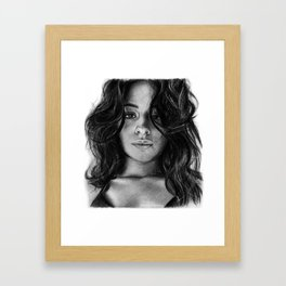 Camila Cabello Drawing Framed Art Print