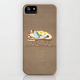 Grumpy Herring Sandwich iPhone Case
