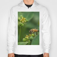 bees Hoodies featuring Bees by Gustavo Aragundi