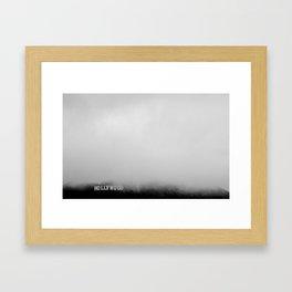 Hollywood In the Mist Framed Art Print