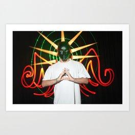 the light mask Art Print
