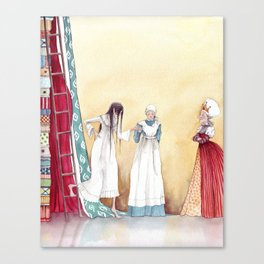 Black and Blue all over - From The Princess and the Pea - By: Hans Christian Andersen Canvas Print