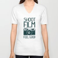 film V-neck T-shirts featuring Shoot Film by Victor Vercesi