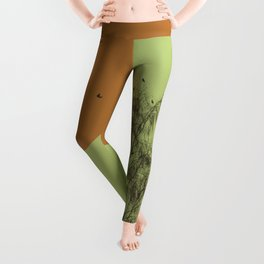 Trees and birds 2 Leggings