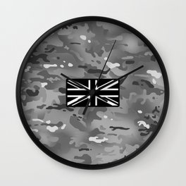British Flag: Urban Camouflage Wall Clock