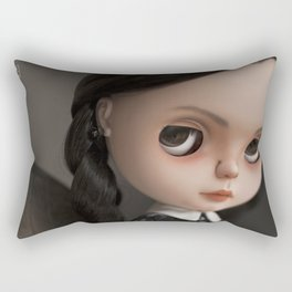 Erregiro Blythe Custom Doll Wednesday Addams Rectangular Pillow