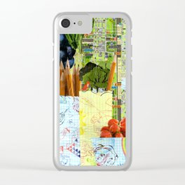 Little Red Fox Clear iPhone Case