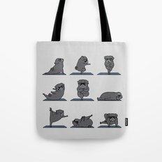 Black Pug Yoga Tote Bag