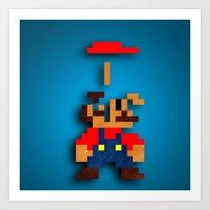 Mario Tetris Art Print