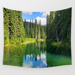 Pacific North West Alpine Lake Wall Tapestry
