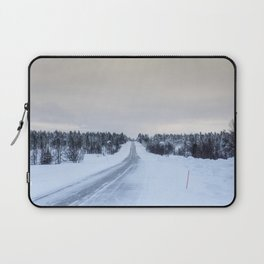Icy Road in Finland Laptop Sleeve