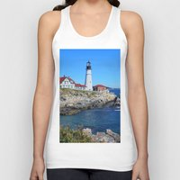 maine Tank Tops featuring Maine Icon by Exquisite Photography by Lanis Rossi