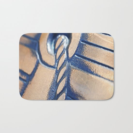 Abstract and Gold Bath Mat