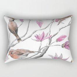 magnolia flowers and birds Rectangular Pillow