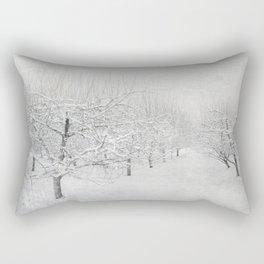 Winter Apple Orchard Rectangular Pillow