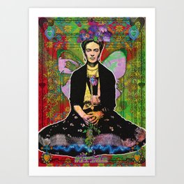 Frida Flower Art Print