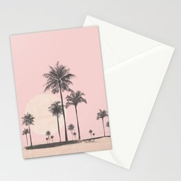 Tropical Sunset In Peach Coral Pastel Colors Stationery Cards