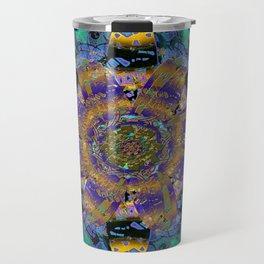 Purple Gold Dream Catcher Mandala Travel Mug